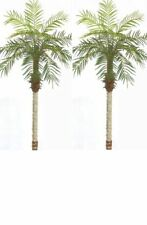 2 Artificial 5ft Phoenix Palm Tree Arrangement Plant Bush Silk Date Areca ivy