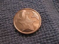 """2014 Bahamas Coin 1 Cent """"Starfish"""" uncirculated beauty great for jewelry"""