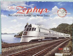 "Con-Cor #001-8721 - HO - "" The Zephyr "", Burlington's Streamline Motor Train"