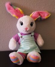 "BUILD A BEAR 22"" EASTER BUNNY WHITE RAINBOW RABBIT in EASTER DRESS EUC *RETIRED"