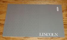 Original 2017 Lincoln Full Line Sales Brochure 17 MKZ MKC MKX MKT Continental