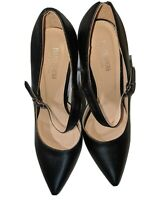 Black High Heel Pump Mary Jane Women shoes Pointy toe Size 8.5