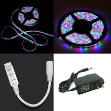 5M 3528 RGB LED Strip + AC + 3 Button control (300leds) (Non Waterproof) (16ft)