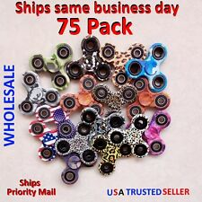 75 Fidget Hand Tri Spinner Camo Finger Kids Toy Edc Stress Focus Adhd Wholesale
