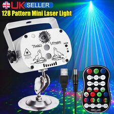 More details for led rgb uv laser stage lights sound active disco party dj dance lamp projector