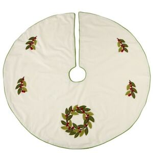 "HOLLY CHRISTMAS TREE SKIRT, 48"" Diameter, by Midwest CBK"