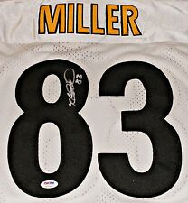 HEATH MILLER Signed Pittsbugh Steelers White Jersey Autograph PSA /DNA Size 52