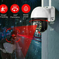 360°  HD 1080P Camera Outdoor WiFi PTZ CCTV Security Wireless Dome Smart IR Cam