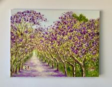 "Ready to Hang Original Oil Painting ""Jacarandas in Applecross """