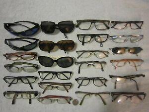 Mix Lot of 24 bolle-Brighton-Burberry-Giorgio Armani-Bvlgari-miu-more Eyeglasses