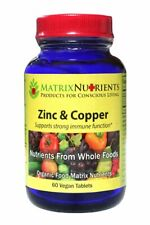 Whole Food Organic Zinc and Copper Supplement by Matrix Nutrients