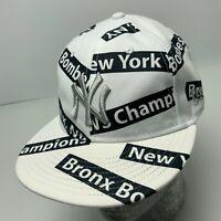 New Era Cap MLB NY Yankees White Black All Over 9FIFTY SnapBack Hat