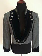 Wool Herringbone Military Jacket/Blazer