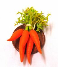 1:12 Scale Bunch Of 5 Carrots Dolls House Miniature Vegetable Kitchen Accessory