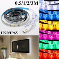 LED Light Strip Waterproof 5V USB String Lights Bar For TV Back SMD3528  !