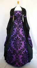 Medieval Gothic Dress Renaissance Pagan Wedding Gown Whitby Custom Made to size