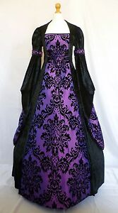 Medieval Dress Gothic Dress Renaissance Pagan Wedding Gown Custom Made to size