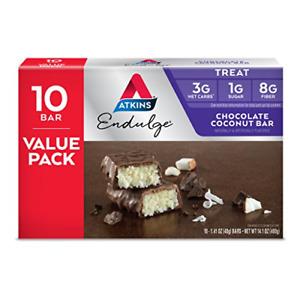 Atkins Endulge Treat, Chocolate Coconut Bar, 10 Count
