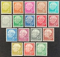 West Germany. Definitive. President Heuss. SG1103/21i. 1954. MNH. (P181)