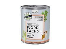 naftie Bio Fjord Lachs+ Hundefutter Nassfutter Menü, 800g Dose