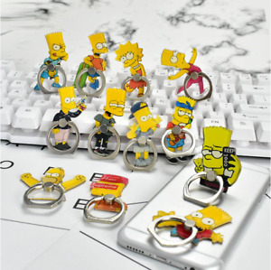 Phone Finger Ring Holder Mount Stand Grip iPhone Simpsons Homer Bart Lisa