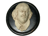 Fine Antique Early 20th Century Wall Sculpture Plaque of William Shakespeare