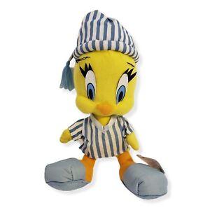 1997 Vintage Looney Tunes Tweety Bird Plush  Ace Night Time Pajamas Stuffed Toy