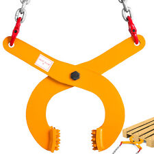 """3T 6614LBS Pallet Puller Clamp With 8"""" Chain Low Profile Material Handling"""
