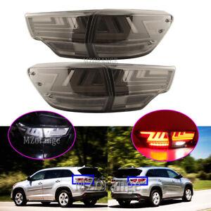 4X Smoking LED Rear Tail Light Lamps for Toyota Kluger Highlander GSU5 2014-2020