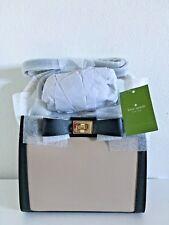 Kate Spade Mayfair Drive Mini Tullie Satchel Leather Bag Almond/Blk $329 NWT