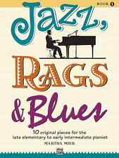 """MARTHA MIER """"JAZZ,RAGS & BLUES"""" PIANO MUSIC BOOK LEVEL 1 BRAND NEW ON SALE!!"""