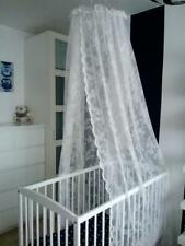 WHITE LACE bed canopy  MOSQUITO NET