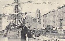 Carte postale ancienne SAINT-TROPEZ 46 port voilier bateau débarquement de liège