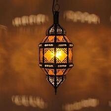 lanterne orientale lampe Marocaine lampe suspendue plafonnier Titia ambre