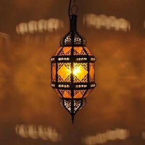 Lanterne Orientale Lampe Arabes Hängelaterne Lampe Suspendue Titia Ambre
