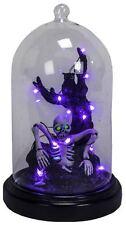 IG364 Zombie Skeleton Owl Tree LED Lighted Glass Dome Halloween Decoration