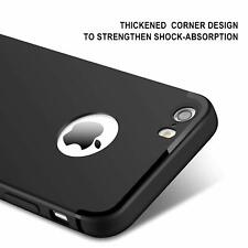 For iPhone 7 Black Silicone Slim Soft Gel Case Cover TPU Shockproof Case