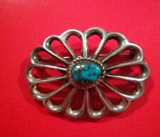 Vintage Navajo Arts and Crafts Guild Sterling Turquoise Brooch
