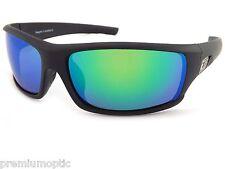 Dirty Dog Polarizado Clank Gafas de sol Envolventes negro / Verde Espejo 53443