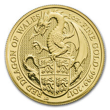 2017 Great Britain 1 oz Gold Queen's Beasts The Dragon - SKU #117682