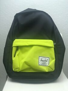 Herschel Supply Co. Classic XL Backpack Black/Yellow Poly 600D NWT