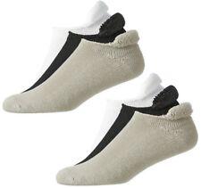 (6) PAIR NEW FootJoy Mens ComfortSof Roll Top Golf Socks, WHITE/BLACK/DRIFTWOOD