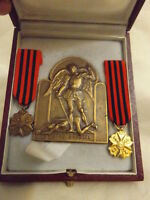 Public Welfare Centre (CPAS-OCMW) of Brussels Brass Medal with 2 miniatures