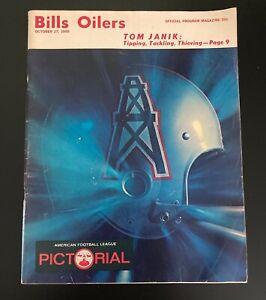 Vintage 1968 Buffalo Bills vs. Houston Oilers AFL Football Program
