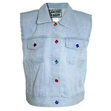 BLOGGER HIPSTER RETRO URBAN Gr.32/34 VINTAGE Jeansweste Jeans Denim WESTE BLAU