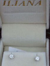 Top quality 18ct white gold 0.30ct G SI1 diamond stud earrings with certificate