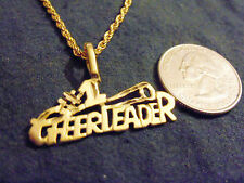 bling gold plated sports football #1 cheerleader pendant charm necklace jewelry
