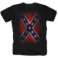 Südstaaten America Dixieland USA Rebel Retro Flagge Fahne T-Shirt S-5XL