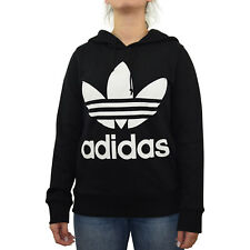 Unifarbene adidas Damen Kapuzenpullover & Sweats mit