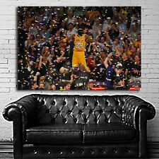 Poster Wall Mural Kobe Bryant Basketball 35x51 inch (90x131 cm) Canvas
